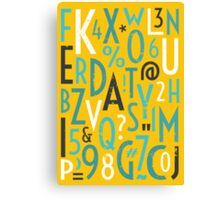 Retro Letters and Numbers Canvas Print
