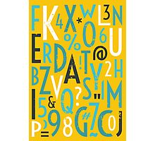 Retro Letters and Numbers Photographic Print