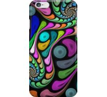 Swirling fractal abstract case iPhone Case/Skin