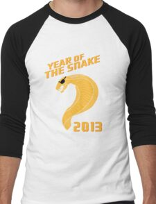 Year of the Snake (Escaped Version) Men's Baseball ¾ T-Shirt
