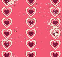 Cute Vintage Hearts by Iveta Angelova