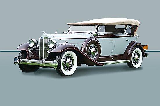 1932 Packard Twin Six Dual Cowl Phaeton w/o ID by DaveKoontz