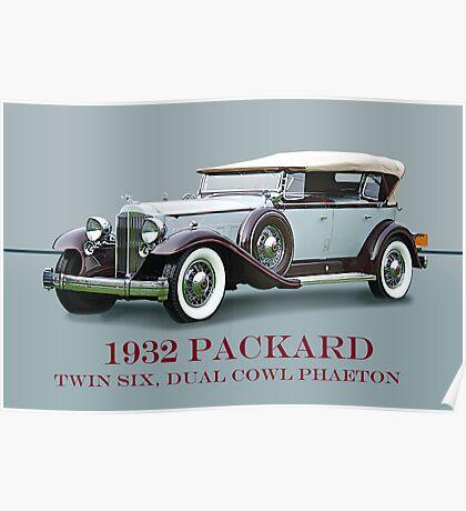 1932 Packard Twin Six Dual Cowl Phaeton w/ ID Poster