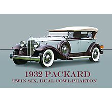 1932 Packard Twin Six Dual Cowl Phaeton w/ ID Photographic Print