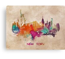 New York City skyline 2 Canvas Print
