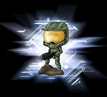 Chibi Master Chief alt. by artwaste