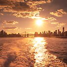 New York City - Sunset Skyline by Vivienne Gucwa
