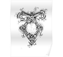 Graceful Angelic Rune Poster