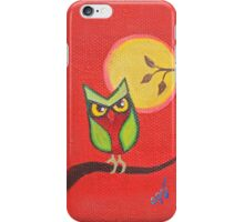 Red Owl iPhone Case/Skin