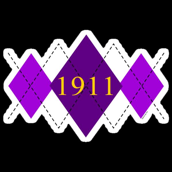 Abstraq Inc: 1911 Argyle (purple) by Abstraq