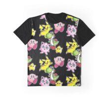 Cute Smash Characters Graphic T-Shirt