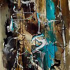 Abstract in Blue and Brown by Richard Mordecki