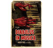 Devil in Music - Piano Photographic Print