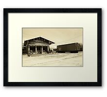 Canal Street Station General Store Framed Print