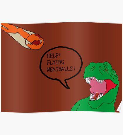 Prehistoric Flying Meatballs Poster