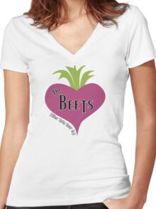The Beets - Killer Tofu Tour '95 Women's Fitted V-Neck T-Shirt