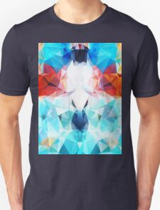 Multi Color Abstract Geometric Triangles Pattern T-Shirt