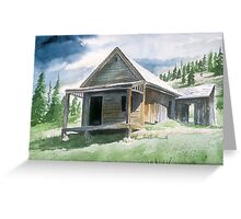 Storms Over-Animas Foks Ghost Town Greeting Card