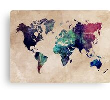 World Map cold World Canvas Print