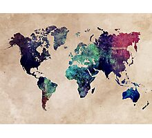 World Map cold World Photographic Print