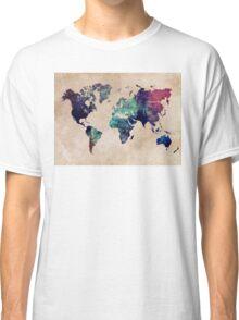World Map cold World Classic T-Shirt
