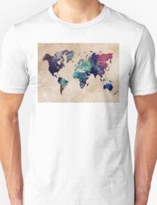 World Map cold World Unisex T-Shirt