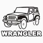 Jeep Wrangler Outline by AstroNance