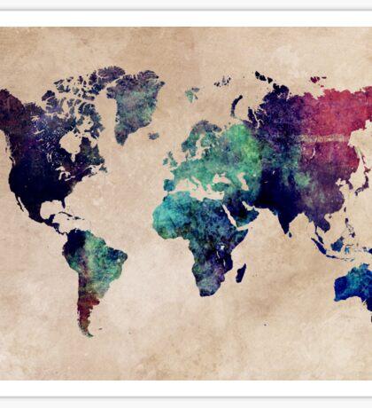 World Map cold World Sticker