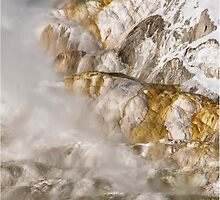 Abstract Mineral Hot Spring Formations by diamondphotogal