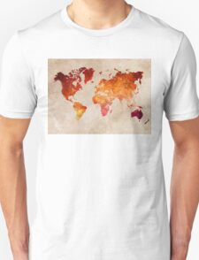 Map of the world Red World Unisex T-Shirt