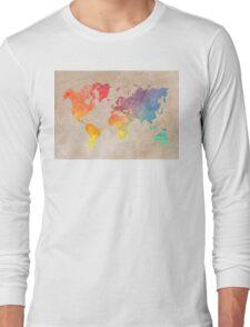 World Map maps Long Sleeve T-Shirt