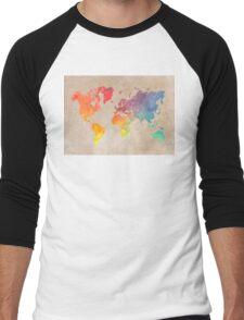World Map maps Men's Baseball ¾ T-Shirt