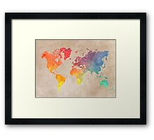 World Map maps Framed Print