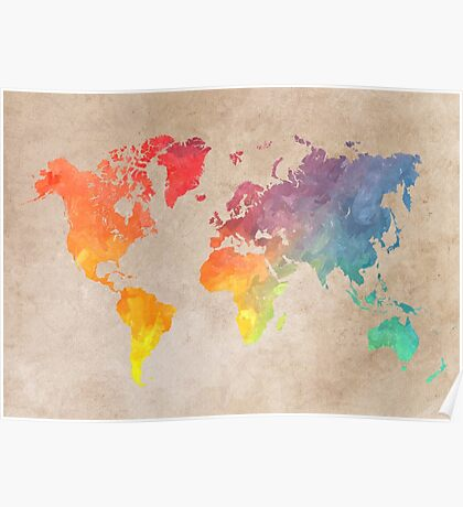 World Map maps Poster