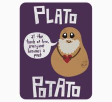 Plato Potato {Sticker} by geeksweetie