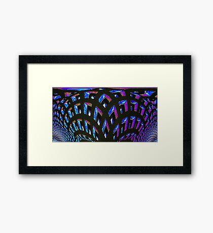 bluegrid arches Framed Print