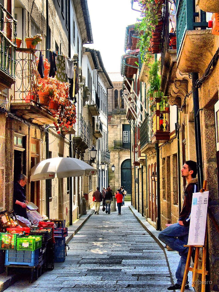 Santa Maria street in Guimaraes, Portugal by vribeiro