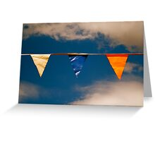 Flags in the Sky @ Dunolly, Victoria Greeting Card