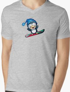 Too Cool To Penguin Mens V-Neck T-Shirt