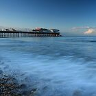 Cromer Pier in Blue by Ursula Rodgers