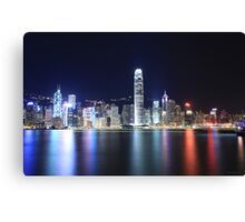 Hong Kong Lights Canvas Print
