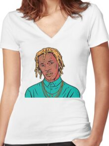 Young Thug Women's Fitted V-Neck T-Shirt