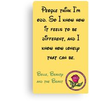 Belle, Beauty and the Beast - Disney Quote Canvas Print
