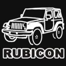 Jeep Rubicon Inverse Outline by AstroNance