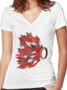Ring in fire  Women's Fitted V-Neck T-Shirt