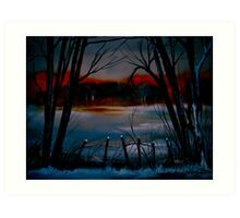 Night and Silence.. Art Print