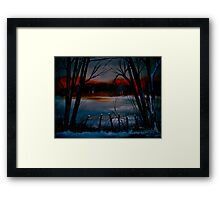 Night and Silence.. Framed Print