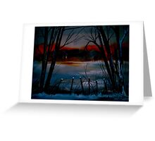 Night and Silence.. Greeting Card