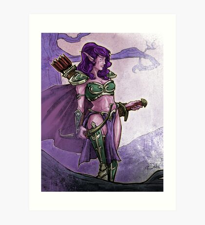 Elf Huntress Art Print