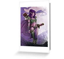 Elf Huntress Greeting Card